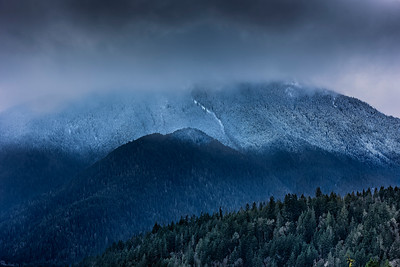 Ba;ldy Ridge and Indian Creek Valley west of Port Angeles, WA