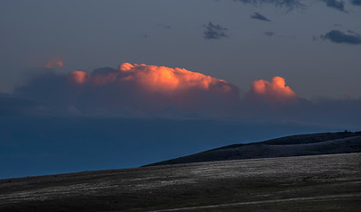 Sunset afterglow, Paradise Valley, Montana