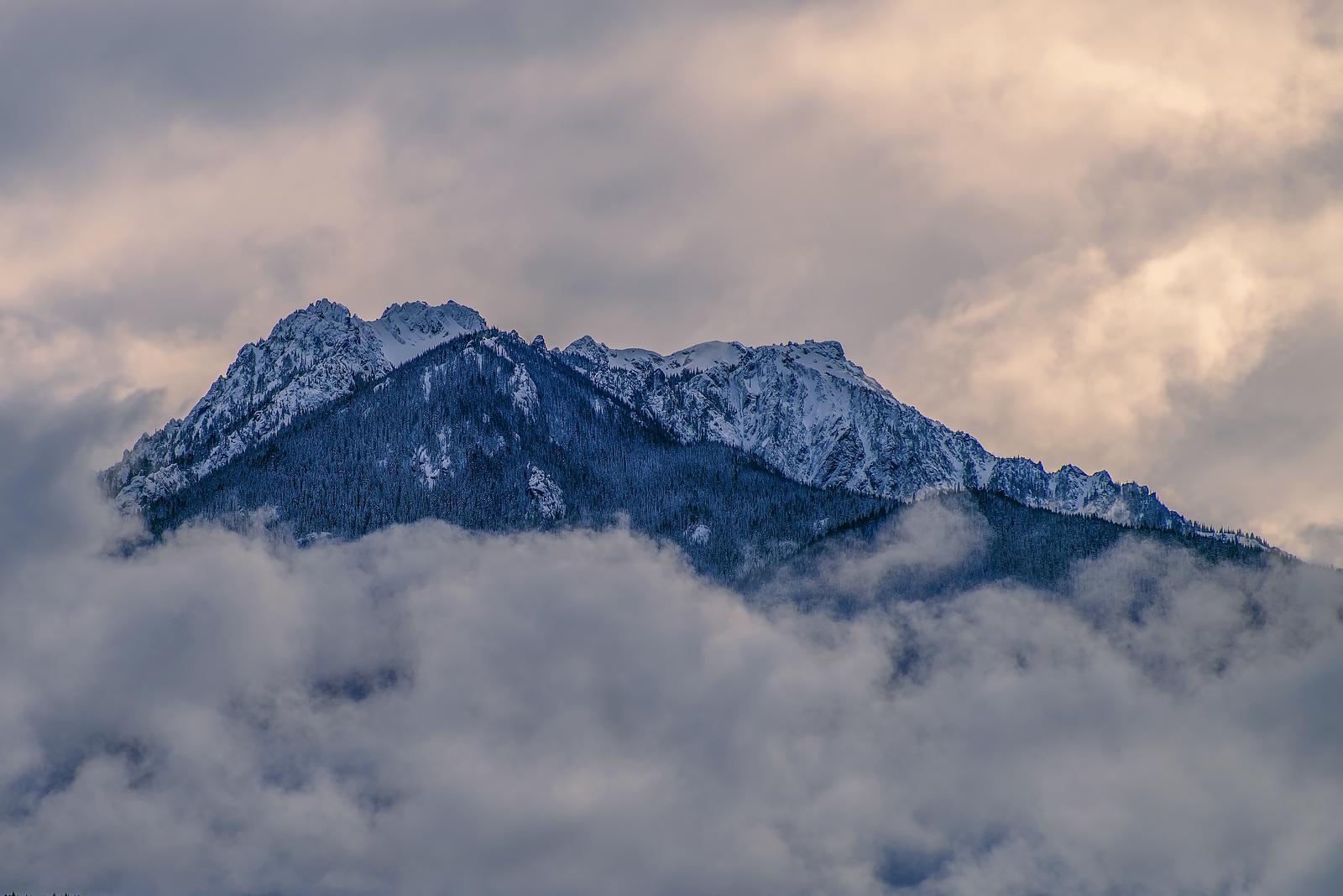 Mt. Angeles from Ediz Hook, Port Angeles, WA