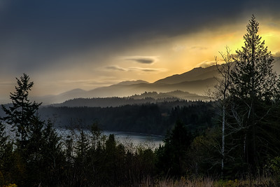 Freshwater Bay and the Foothills behind Port Angeles, WA