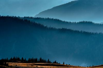 Hazy ridgelines, Olympic National Park, Washington