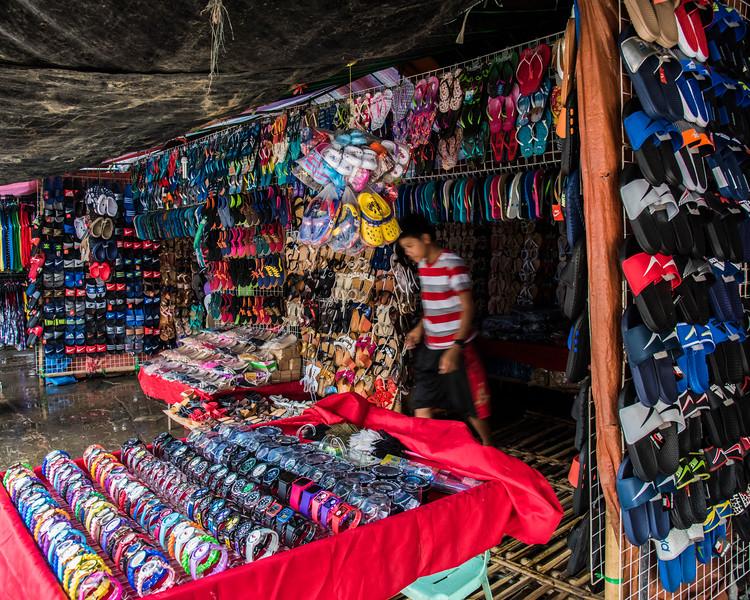 Street vendor in open market