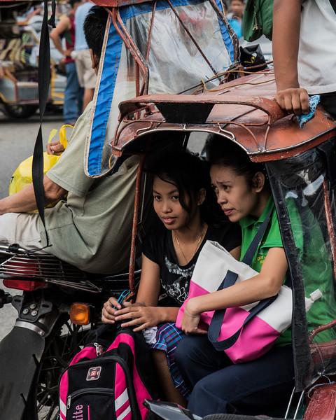 Philippinna girls on trike