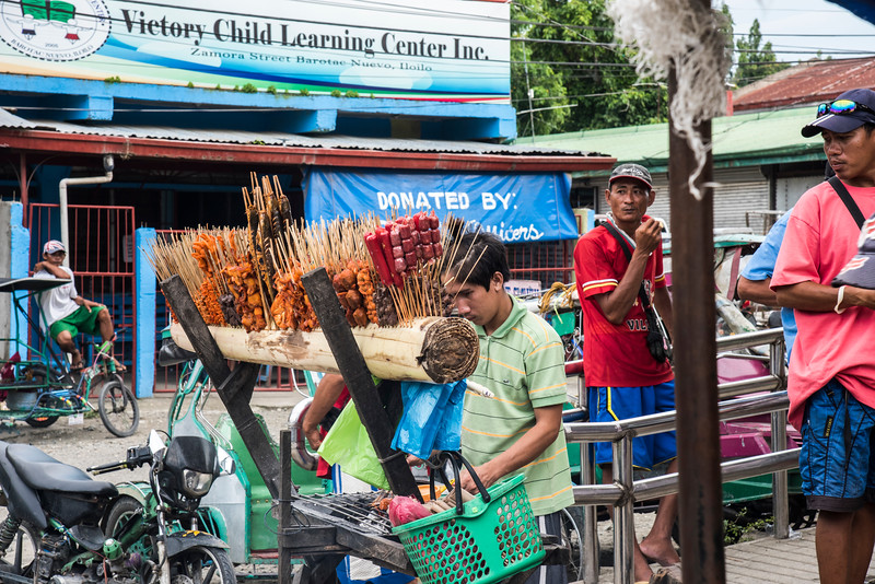 Street corner food vendor