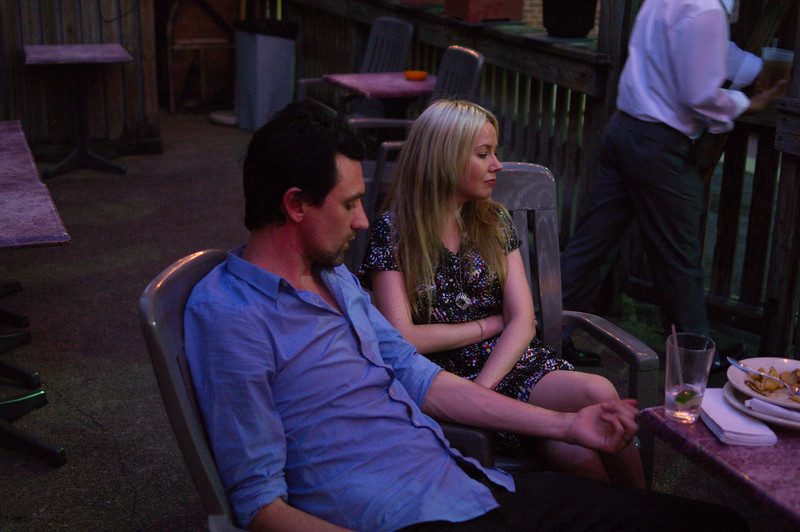 Paul Dempsey and his wife Stephanie Ashworth, backstage (loosely speaking) before the show.  Paul is/was touring for his solo record, but these two form 2/3rds of the Australian band Something For Kate.