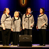 Indigo Quartet -- Julie Schlader, Jill Perkins, Sue Schellenberg, and Paula Land. The Harmony Hawks Gospel Concert was held Friday,  Nov. 1, 2013 at the New Covenant Bible Church.