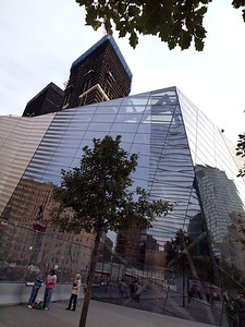 9/11 Museum Visitor's Entrance with WTC Building 5 under construction