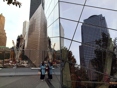 9/11 Museum Visitor's Entrance (to open in 2012), construction for new Transportation Center and St Paul's Chapel in background
