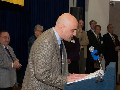 Coach Dick Percudani son accepts award