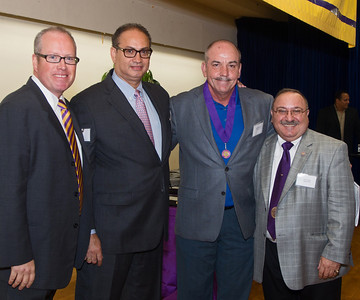 Sean Crowley, Joe Maffia, PMA '77, Inductee Matthew Centrowitz, PMA '73 and Chick Pisani