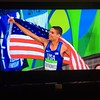 Screenshot of Matt Centrowitz Jr. after winning the 2016 Olympic 1500 Meters.