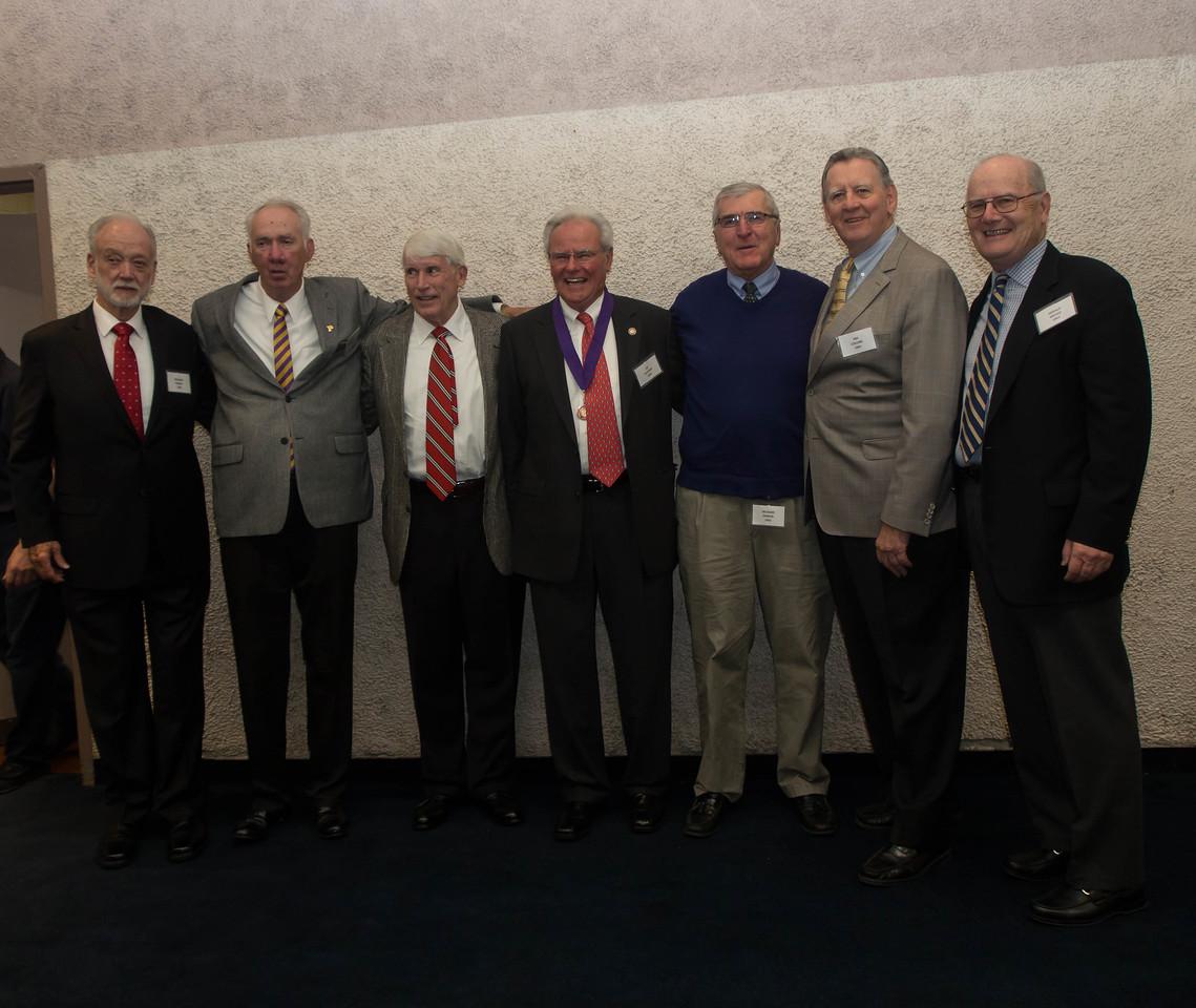 Class of 1961: Richard Walko, John Minton, Michael Walsh, Edouardo Duchini, Rich Deneen, Jim Collins, Gerry McGee