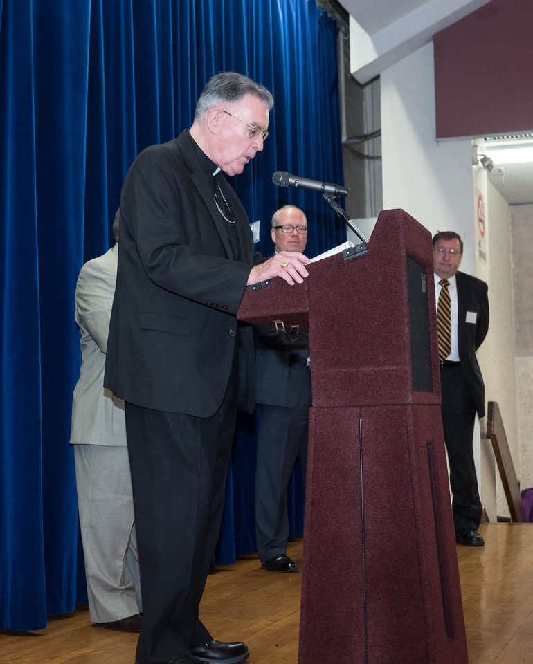 Bishop Gerry Walsh, PMA '59 and HOF gives the benediction