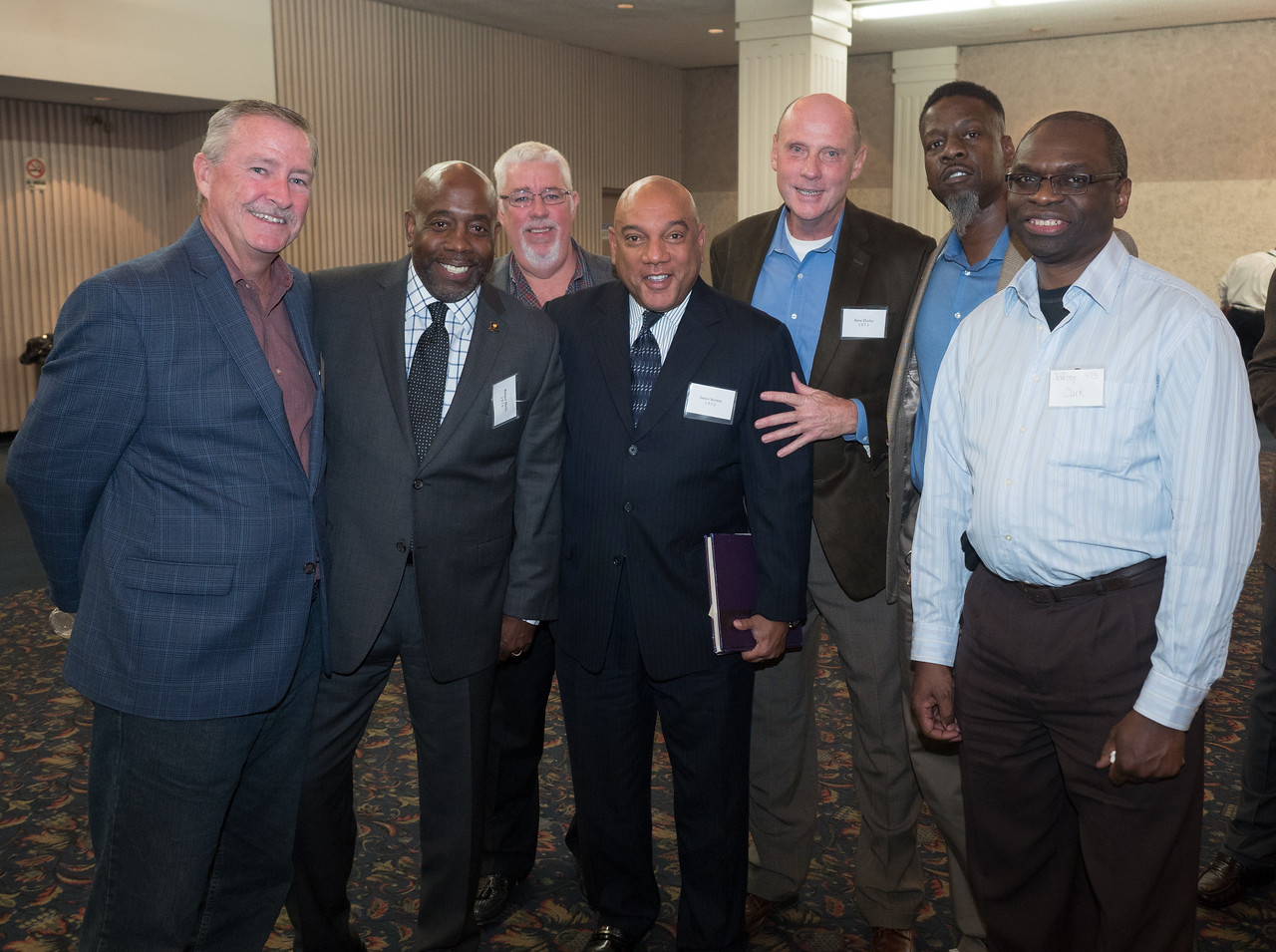 A group of Alumni with Honoree James A. Secreto, PMA 1975