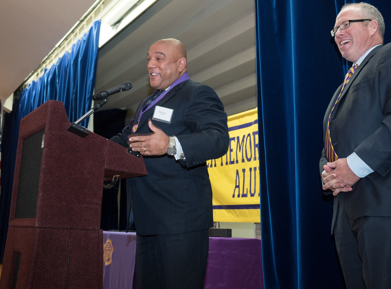 James SEcreto, PMA'75 accepts his award