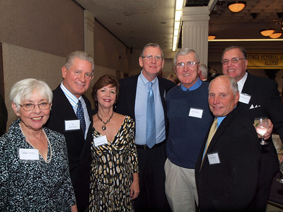 Class of 1961, Eleanor McGee, Mike Lynch, Sharon Lynch, Jim Collins, Rich Deneen, Peter Kerwin, Fred Russell