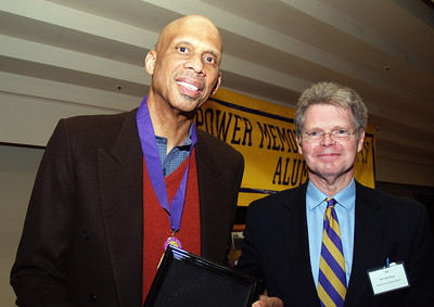 Team mates, Kareem and Art Kenny