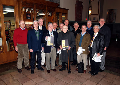 Members of PMA Class of 1961 and Brother Killilea: Gerry McGee, Tom Tuohy, John Minton, Bill Conry, Gerry Giancola, Ed O'Keefe, Bro. Killilea, Fred Russell, Mike Lynch, John Early, Rich Deneen, Joe Cutaia, Jim Collins