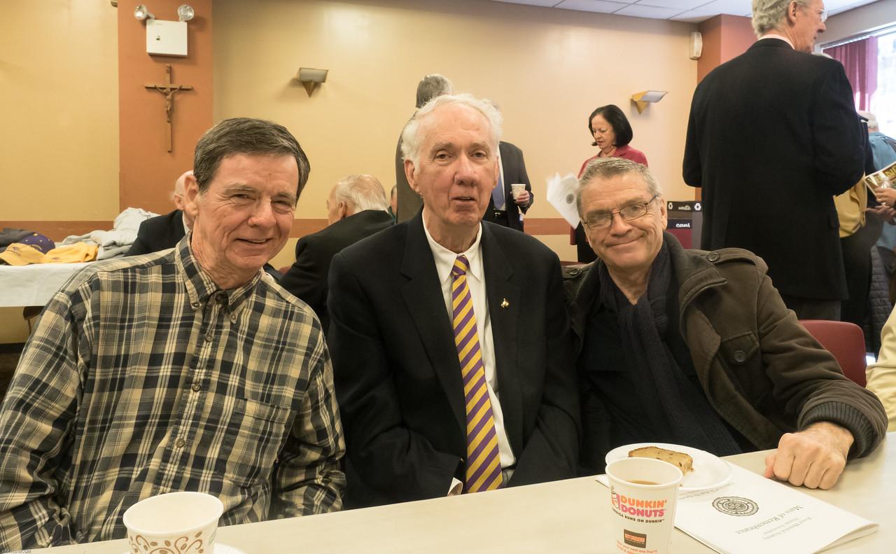 Ed McTigue, John Minton and John Early, PMA'61