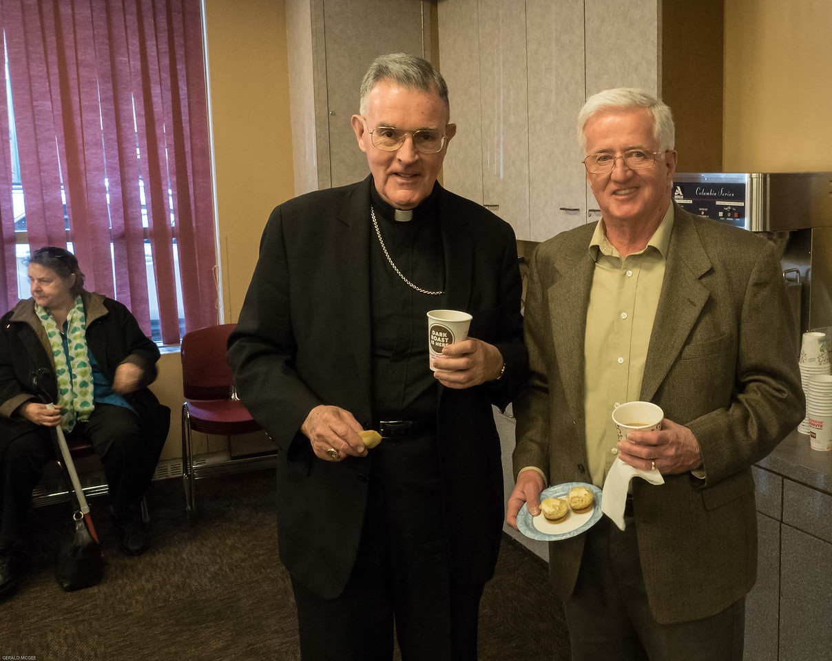 Bishop Walsh PMA '59 and Tom Leahy PMA '61
