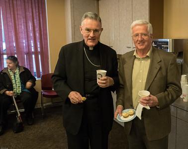 Bishop Walsh PMA '59 and Tom Leahy PMA '61