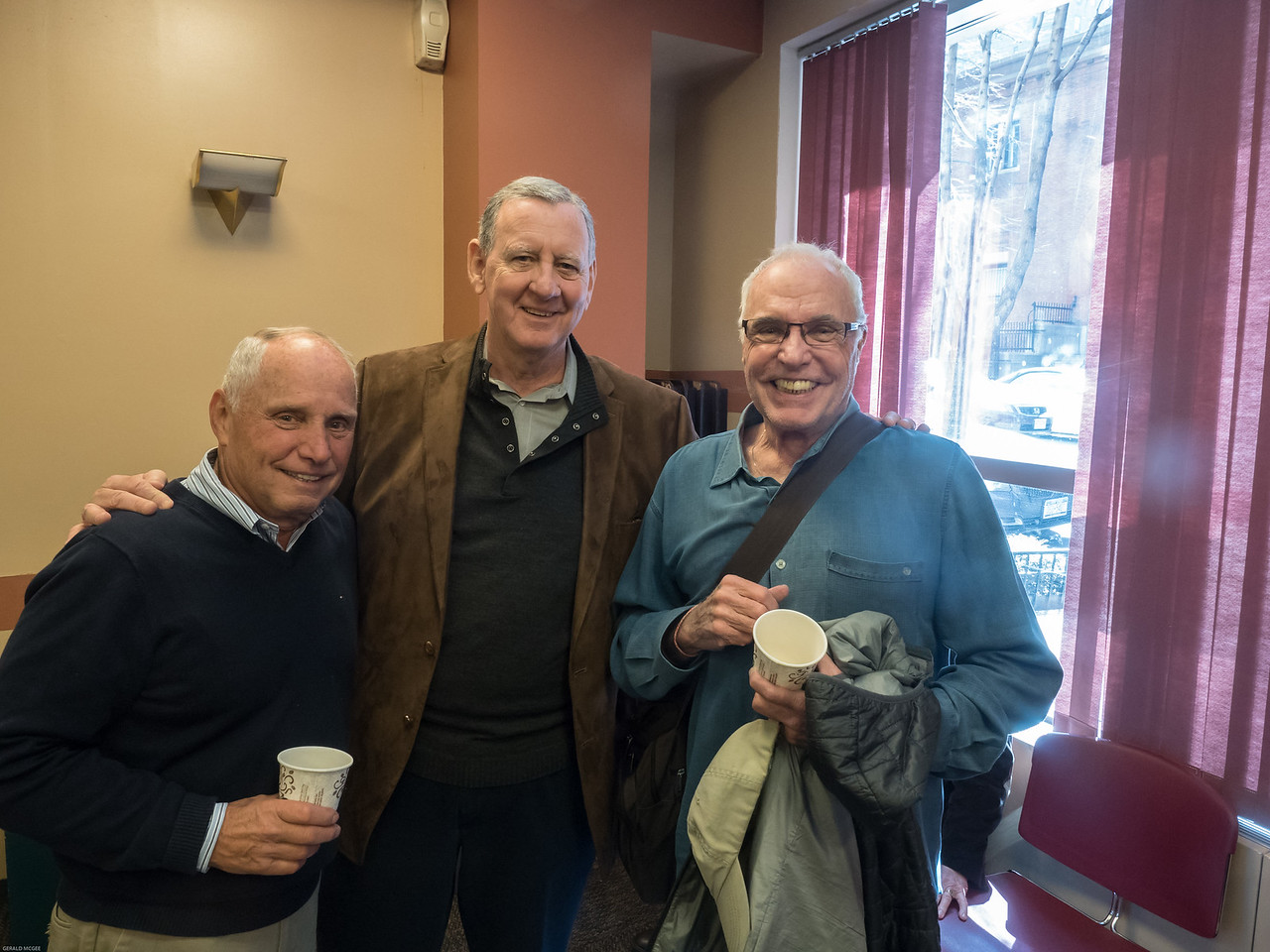 Peter Kerwin, Jim Collins and Jim Garvey, PMA '61