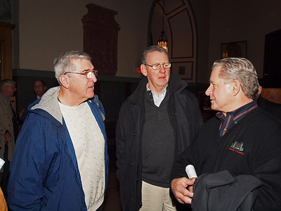 Rich Deneen, Jim Collins and Mike Lynch of the class of 1961