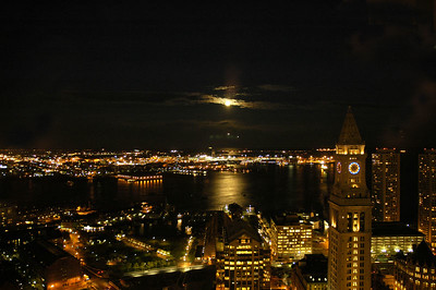 Moonrise over Boston