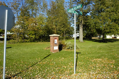 Lincoln Highway Marker in Osceola, OH.