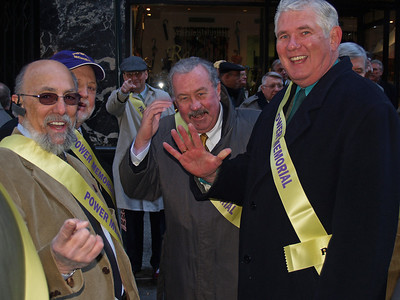 Al Caldiero, Marshall Hunter, Gerry Gay (in background), Ed O'Keefe and John Dwyer, Class of 1961