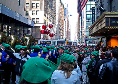 At 1:00 PM, east 45th Street was crowded with marchers. A band from Florida preceeded us.