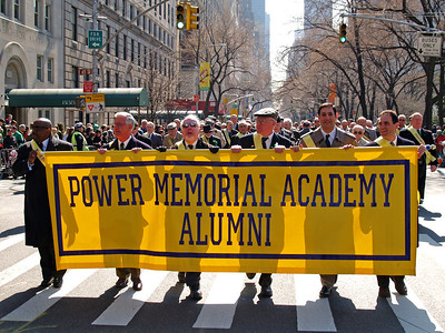 The Power banner is proudly carried up Fifth Avenue.