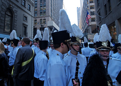 The Farrell HS band from Staten island was behind us.