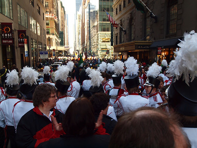 Ready to go, only a few thousand on 45th St ahead of us.