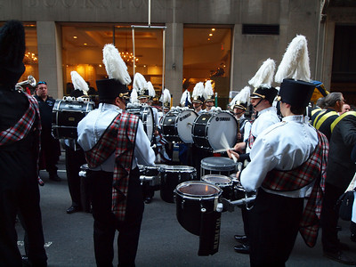 Clearfield High School Band (PA) marched in front of us.