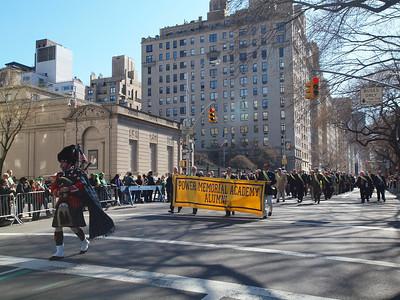 Piper Brian Kearny, PMA '84 led us up Fifth Avenue.