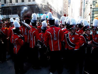 The Salem High School band from Salem, Ohio was in front of us.