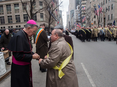 Bishop Walsh, PMA '59 greets Chick Pisani, PMAAA president