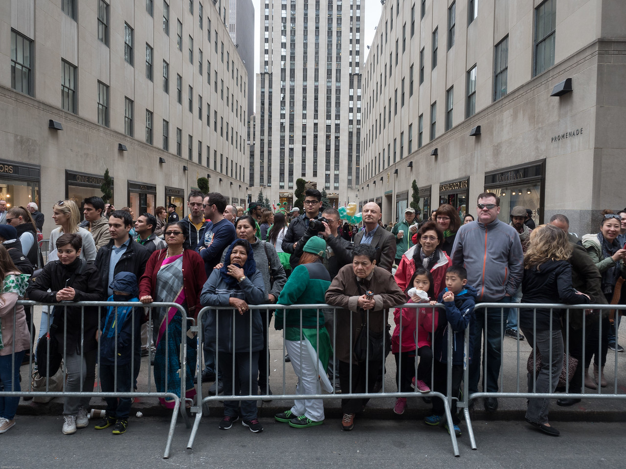 Onlookers at Rockefeller Center