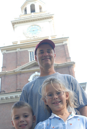 old city - independence hall visit 8/08