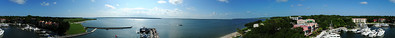 360 degree photo from atop the HHI Lighthouse at Sea Pines.  View original size for most detail, and enjoy!!