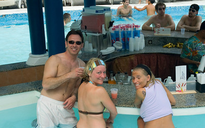 We crashed the swim up bar at a neighboring resort