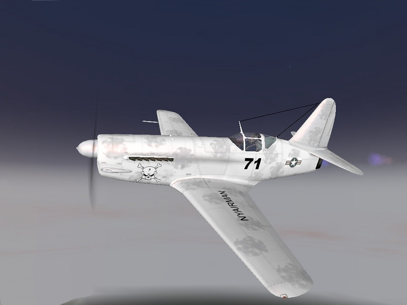 A screen capture of an I250 Russian WWII fighter prototype created in IL2 Sturmovich 1946 and created a custom Paint Scheme.