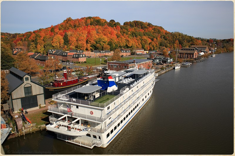 The Independence docked in Kingston, New York on the Lower Rondout Creek.