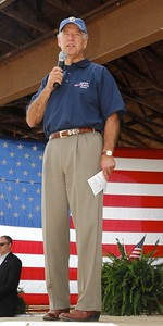 Photo Earl Neikirk/Bristol Herald Courier  US Sen. Joe Biden speaks to the crowd at the UMWA Fish Fry in Castlewood, Va.