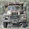 "International Harvester Dump Truck background enhanced w / Corel X5. Includes Perfect Effects tweak. Best viewed at O ""original""."