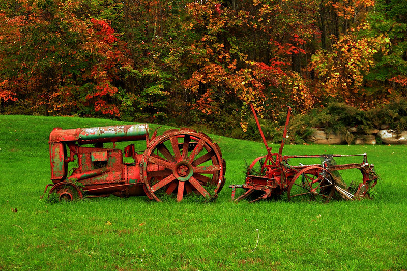 Tractor and Plow! Ashokan NY. Photo taken on 10-15-2011.
