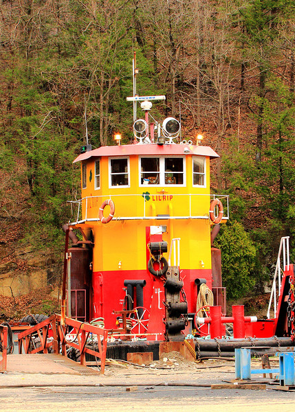 Lil rip tugboat is docked at Feeney's boatyard in Wilbur NY.