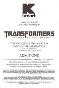 20090623 Transformers - Revenge of the fallen (Ticket)