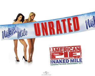 American mile naked pie poster